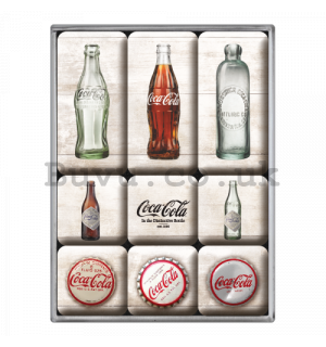 Set of magnets - Coca-Cola (caps and bottles)