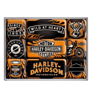Set of magnets - Harley-Davidson (Wild at Heart)