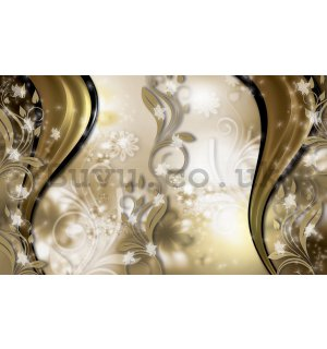 Wall Mural: Golden pattern - 254x368 cm