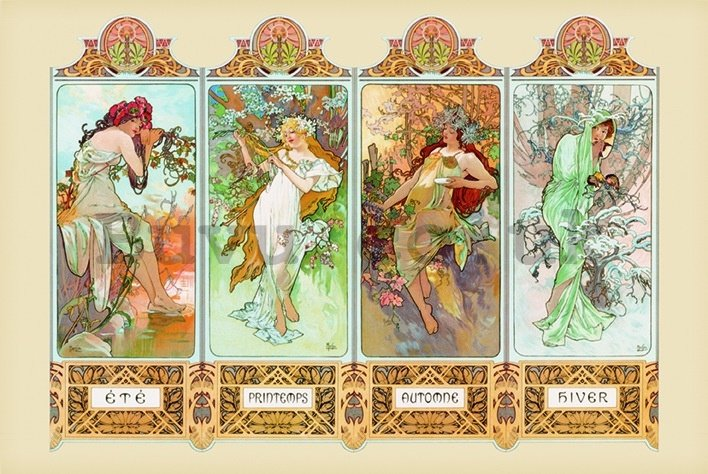 Poster - Mucha (Four seasons)