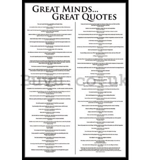 Poster - Great Minds ... Great Quotes