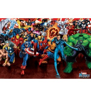 Poster - Marvel Heroes Attack