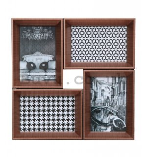 Photo frame - 4 windows, 10x15cm (copper)