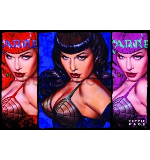 Poster - Bettie Page (Colors)