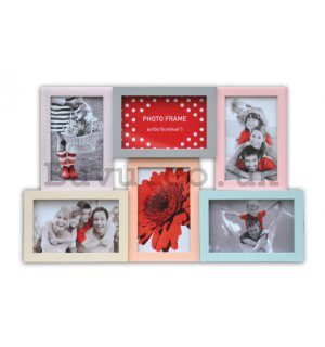 Photo frame - 6 windows, 10x15cm (Color)