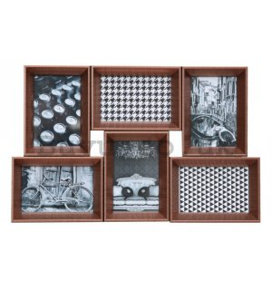 Photo frame - 6 windows, 10x15cm (Copper)