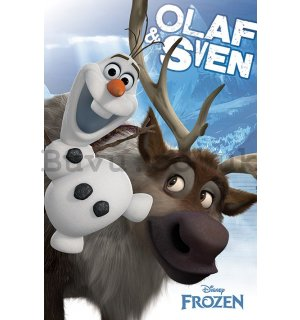 Poster - Frozen, The Ice Kingdom (Olaf & Sven)