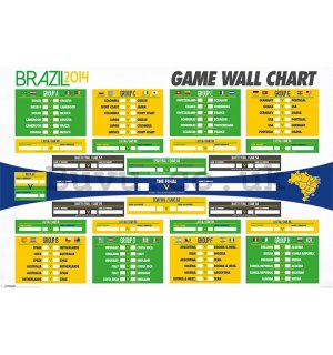 Poster - Fifa Brazil 2014 (Table)