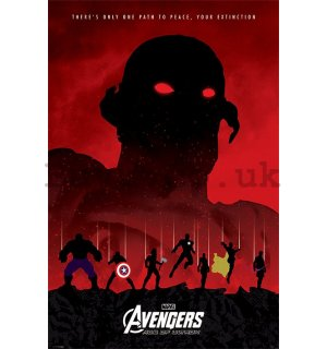 Poster - Avengers Age of Ultron (red)