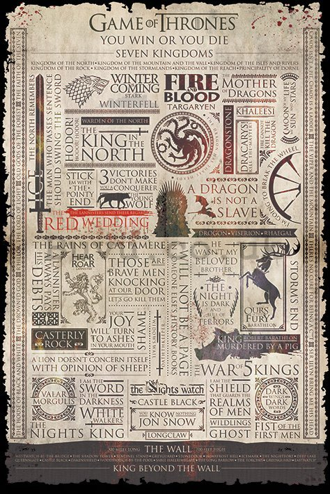 Poster - Game of Thrones (infographics)