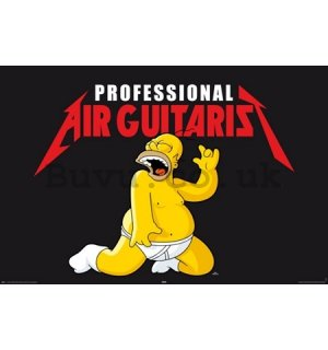 Poster - Simpsons air guitarist