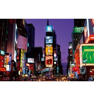 Poster - New York Times square at night