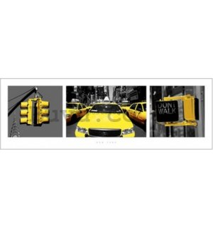 Poster - New York yellow triptych