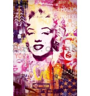Poster - Marilyn Monroe city collage