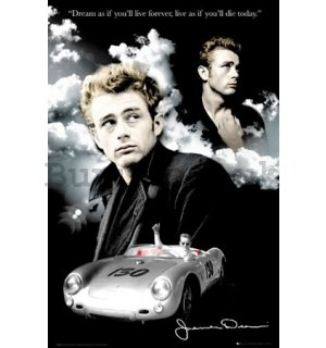 Poster - James Dean clouds