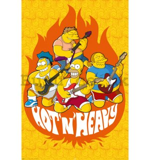Poster - Simpsons hot and heavy
