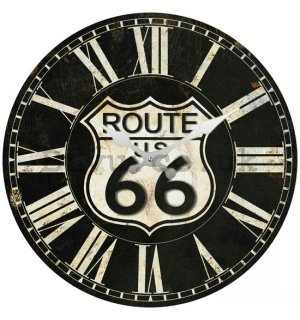 Glass wall clock - Route 66 (1)