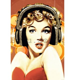 Poster - Marilyn Monroe (Headphones)