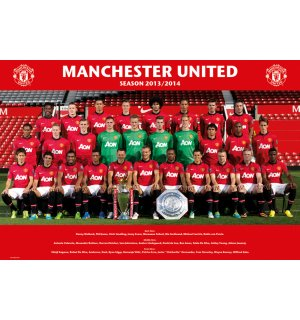 Poster - Manchester United (Team photo 13/14)