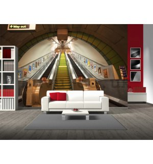 Wall Mural: Metro (escalators) - 232x315 cm