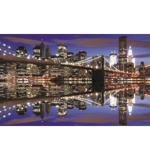 Wall Mural: Night Brooklyn Bridge (2) - 254x368 cm