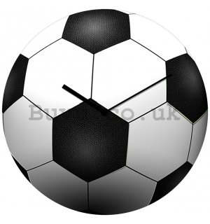 Glass wall clock - Soccer Ball